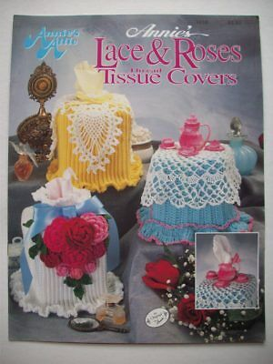 Lace and Rose tissue box covers crochet pattern