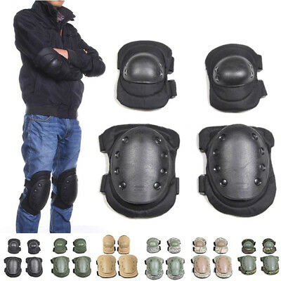 Outdoor Military Sports Airsoft Tactical Combat Protective Set Gear Knee Pads