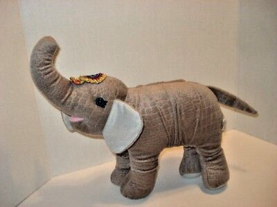 """The Greatest Show on Earth Collectible Gray Elephant  Stuffed Plush 11""""Long"""