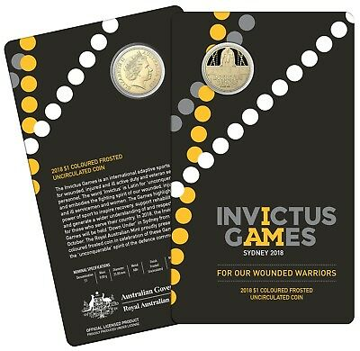 2018 Invictus Games Sydney  $1 One Dollar - Carded Uncirculated Coin