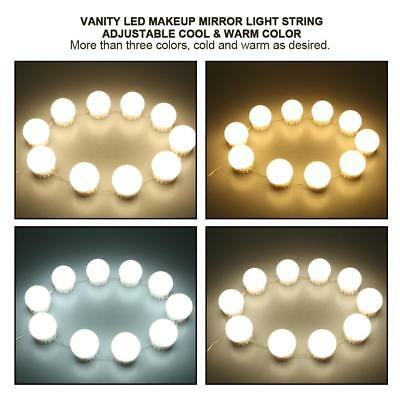 Vanity LED Mirror Light Kit For Makeup Hollywood Mirror With 10 Dimmable Bulb