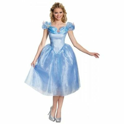 NEW Adult Disneyu0027s Cinderella Movie Deluxe Dress Princess Halloween Costume  sc 1 st  PicClick & ELSA COSTUME ADULT Frozen Disney Princess Halloween Fancy Dress ...