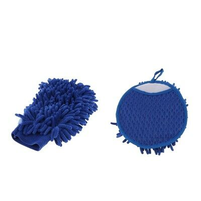 New Microfiber Gloves Clean Brushs Household Gloves Cleaner Car Gloves Blue