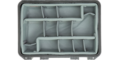 Grey Padded Dividers - Fits Pelican 1500, 1520, or 1550 Case (Foam Only)