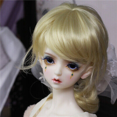 "BJD Doll Full Wig 9-10"" 22-24cm for 1/3 SD DZ DOD LUTS Dollfie Curled Hair"