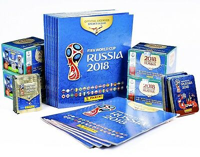World Cup 2018 Stickers Panini FIFA Football Russia - 25 50 104 Packs NEW