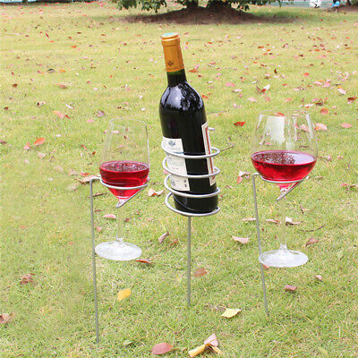 Entertainment Wine Camping Cup Holder Freestanding Leisure Wine Rack Set