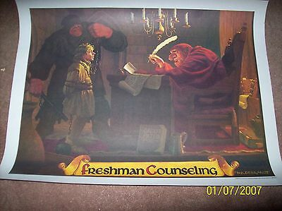 "Coca-Cola McDonalds Fantasy School Poster ""Freshman Counseling"" by Hildebrandt"