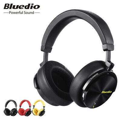 Bluedio T5S Bluetooth Headphones Noise cancelling Wireless Over Ear Bass Headset