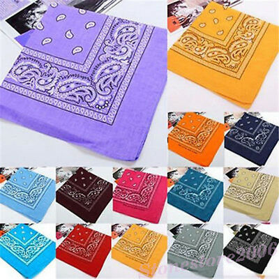 Paisley Bandana Printed Headwear Hair Band Scarf Neck Wrist Wrap Band Head