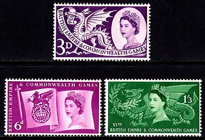 GB MNH STAMP SET 1958 Commonwealth Games SG 567-569 UMM