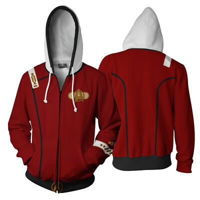 Star Trek II Cosplay The Wrath of Khan Men Hoodie Sweatshirt Zipper Jacket Coat