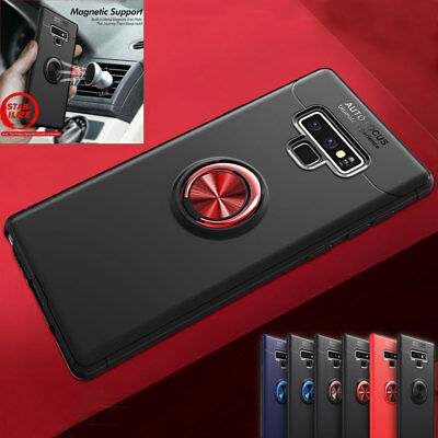 For Samsung Galaxy Note 9/J6 A6 Shockproof Magnetic Ring Holder Armor Case Cover