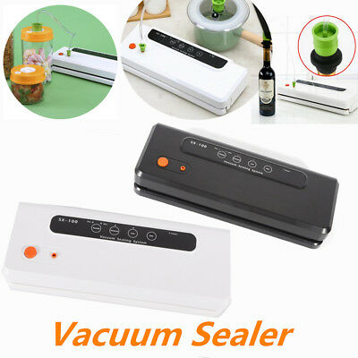 Portable Sealing Machine Automatic Vacuum Sealer System Food Storage + 10 Bags