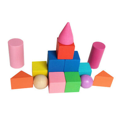 Wooden Geometry Combination Teaching Children Early Education Building Blocks FY