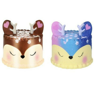 Jumbo Squishy Deer Cake Slow Rising Scented Squeeze Stress Reliever Toy Gift US