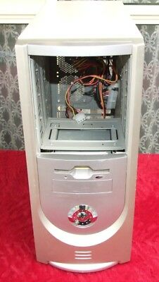 Tower ATX computer case from Pentium 4 era with 400W power supply