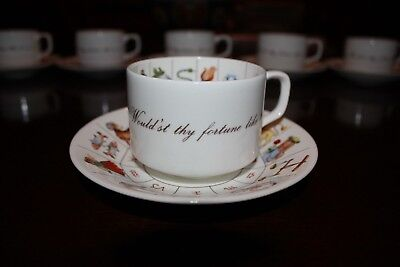 Vintage Royal Kendal Zodiac Taltos Fortune Telling Teacup & Saucer 6 Available!!