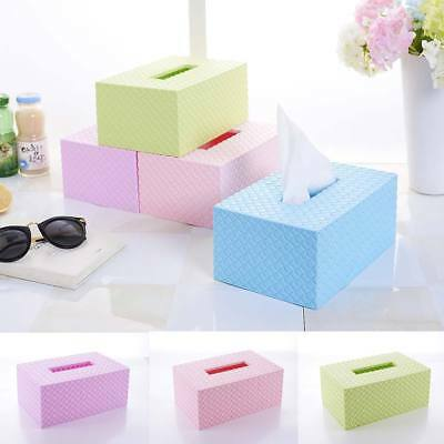 Plastic Tissue Box Cover Home Table Car Napkin Case Holder Storage Organiser