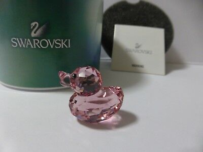 Swarovski Crystal Pink Duck With Free Post