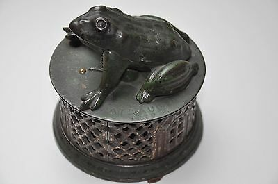 Antique Stevens Co J. & E. Frog on base Pat' 1872. Mechanical Bank