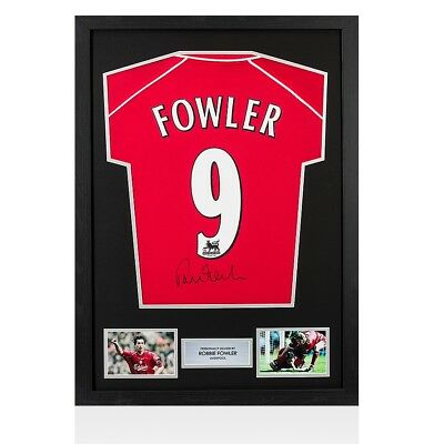 Framed Robbie Fowler Signed Liverpool Shirt 2000-2001 - Number 9 Autograph