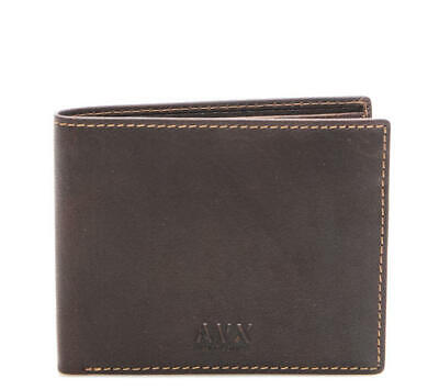 factory authentic 08b7d ed991 PORTAFOGLIO UOMO AVIREX wallet cards flap horizontal BROWN G2786BW