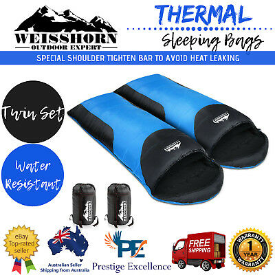 Twin Sleeping Bag Weisshorn Double Camping Thermal Hiking Winter Envelope Bags