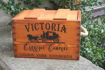 Rustic Antiqued Vintage Wooden Victoria Carriage Company Trugs Crates Boxes
