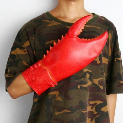 Halloween Gloves Lobster Latex Red Claw Animal Props Costume Party Hand Supplies