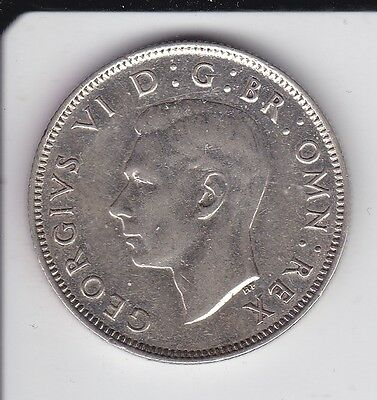 Great Britain UK FLORIN 2 SHILLINGS 1943 XF  SILVER COIN