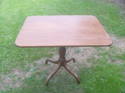 "Victorian Mahogany Tilt Top Table..36.5"" x 29"" Top"