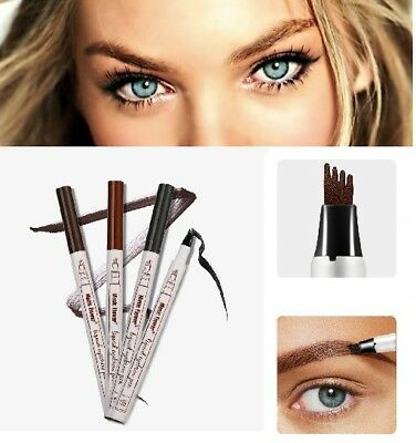 Eyebrow Tattoo Pen Waterproof Fork Tip Microbladed Patented Makeup Ink Sketch UK