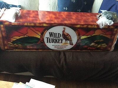 Wild Turkey Bourbon Whisky Pool Light Sign. Brand New In Box!