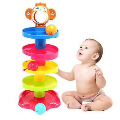 Hot Sale Baby Toys Tower Puzzle Rolling Ball Bell Stackers Kids Toy Children Toy