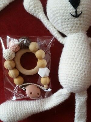 Hombae Baby Pacifier Holder Stuffed Animal Infant Soothie Teether Clip #E108