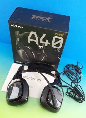 ASTRO Gaming A40 TR Gaming Headset for PC, Black set in box #40smal