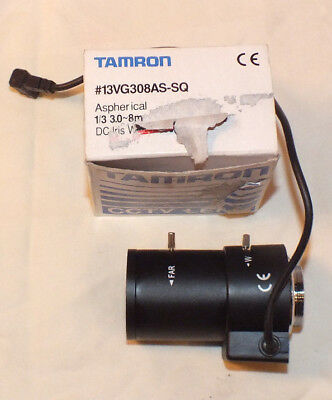 "Tamron 13VG308AS-SQ 3-8mm 1/3"" F/1.0 Aspherical DC Auto-Iris CCTV Lens"