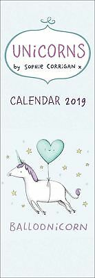 Unicorns by Sophie Corrigan Official 2019 Slim Wall Calendar New & Sealed
