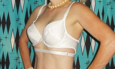 Vintage Smoothie Understrap Push Up Bra 36 C pin up clothing girl 1950's retro