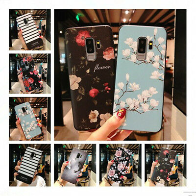 For Samsung Galaxy Note 9 S9 3D Rubber Soft Silicone Flower Pattern Case Cover