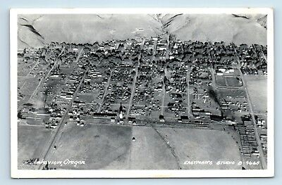 Lakeview, OR - RARE c1950s AERIAL BIRDS EYE VIEW OF CITY - EASTMAN RPPC - H3