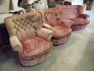 1960's Curved Settee & Two Armchairs by WADE of Nottingham (Classic)