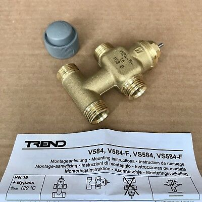 Trend V584-15-1.6 Linear Valve - 6.5mm PN16 4P Conex - 3 Way + Bypass DN15