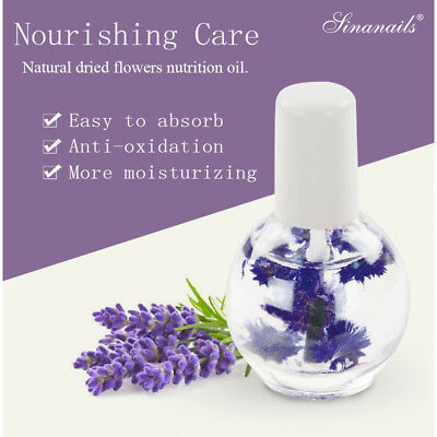 Cuticle Nail Oil 12ML Nutrition Revitalizer Treatment Natural Dried Flower Care