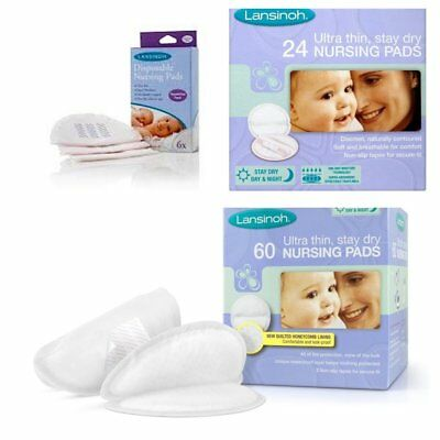 Lansinoh Breast Pads - 24, 60 pack or Trial Pack of 6