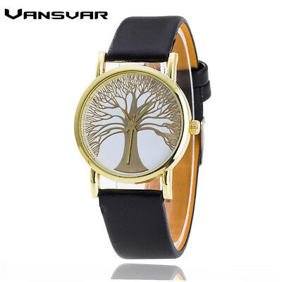 Vansvar  Fashion Tree of Life Watches Casual Women Gold Quartz Watches   Relo...