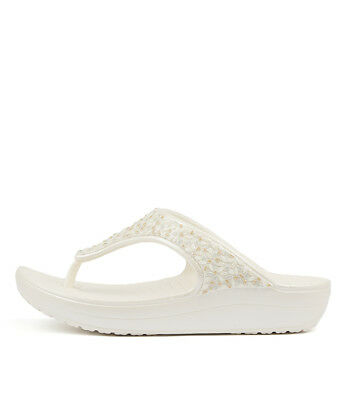 ddecb53ae New Crocs Sloane Embellished Flip Oyster Womens Shoes Casual Sandals Heeled