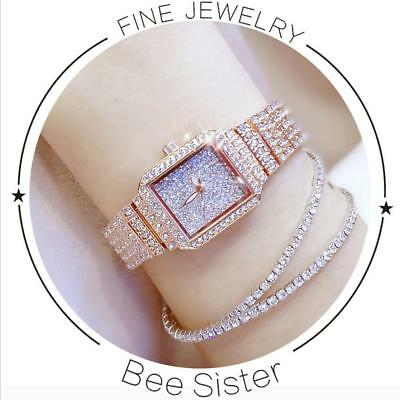 Women Watch Rhinestone Watches Lady Diamond Stone Dress Watch Stainless Steel...
