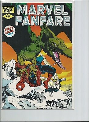 Run of Marvel Fanfare 1st Four Issues Spider-Man X-Men Ka-Zar Chris Claremont